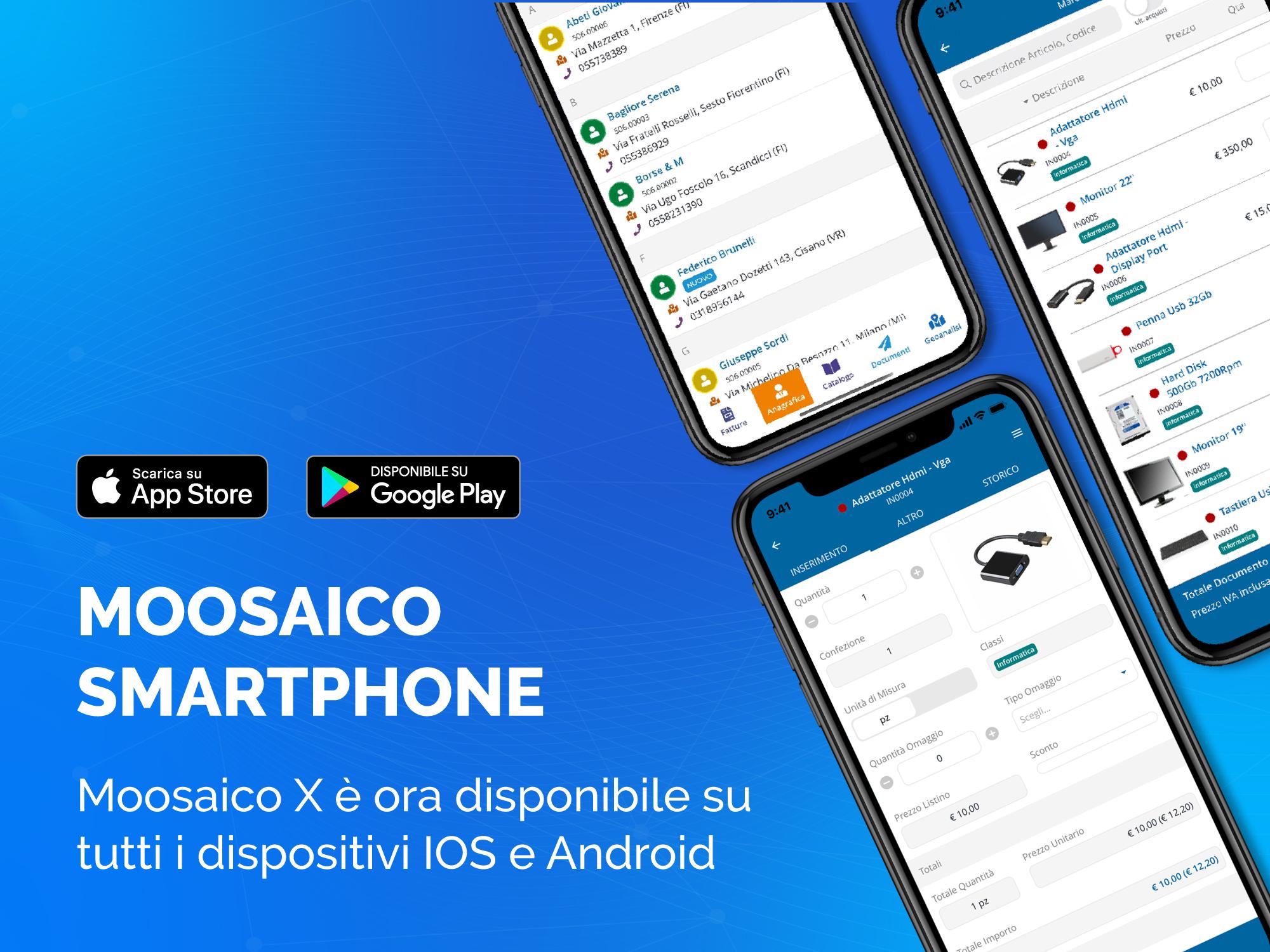 Moosaico arriva su smartphone IOS e Android